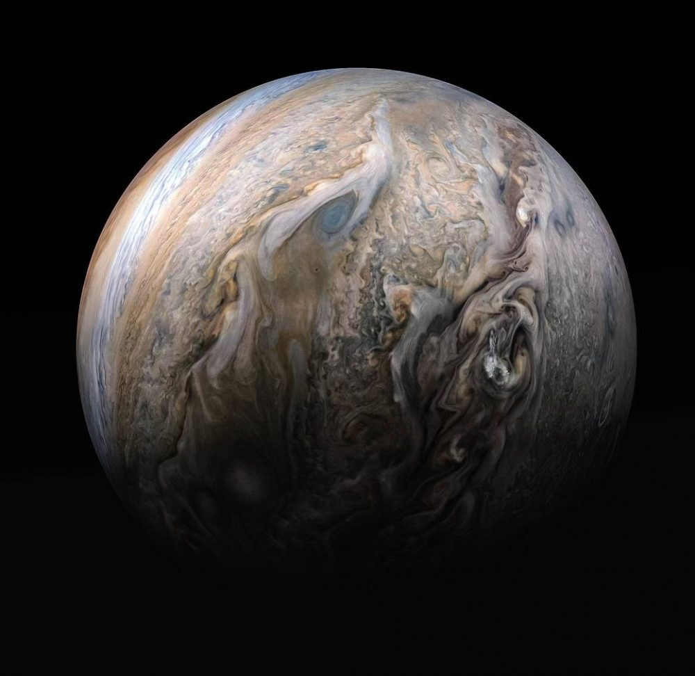 The stunning northern hemisphere of Jupiter. Credit: NASA/JPL-Caltech/SwRI/MSSS/Kevin M. Gill