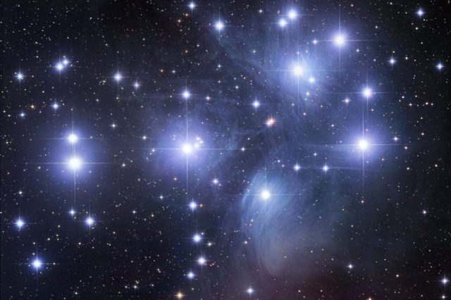 Add the Pleiades to your astronomical calendar for January 2021 and enjoy the mythical star cluster around the 15th. Credit: Robert Gendler