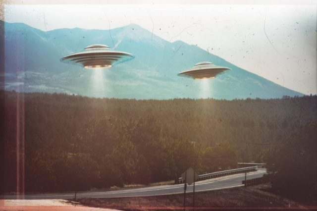 See the entire collection of declassified CIA UFO files in the link provided below. Credit: Shutterstock