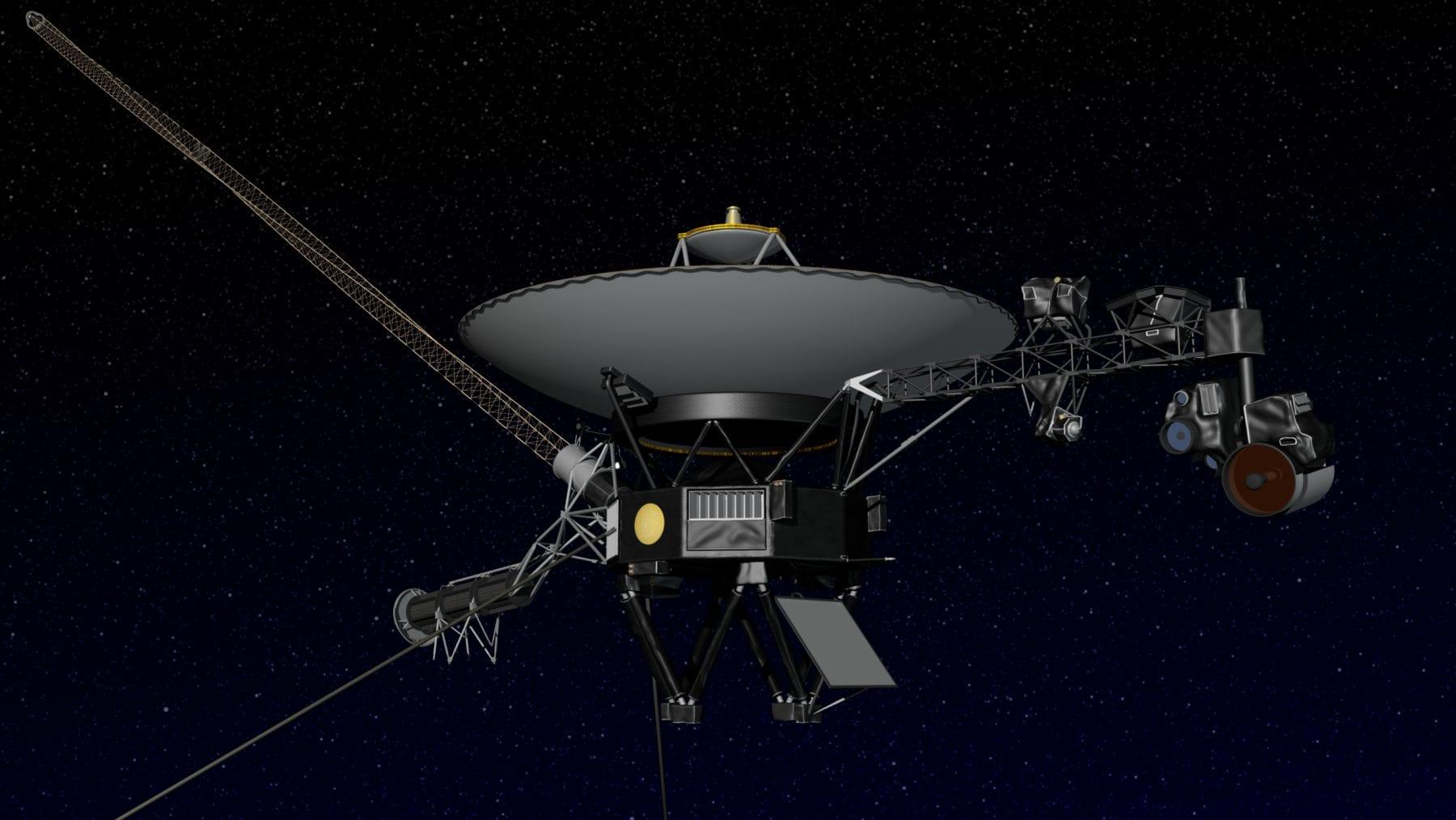 Artist's concept of NASA's Voyager spacecraft in space. Credit: NASA/JPL-Caltech