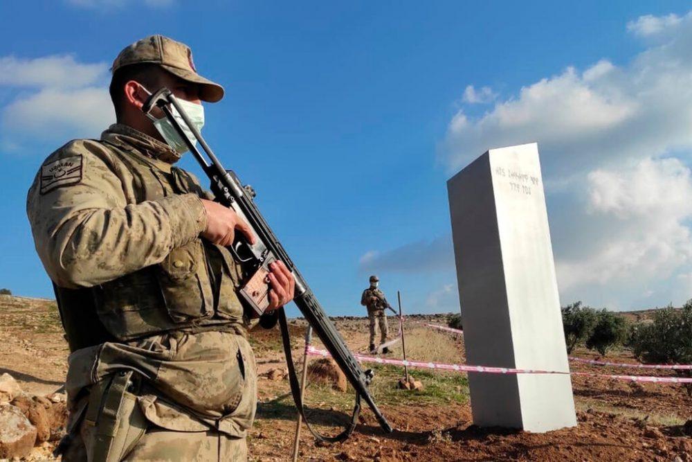 The latest metal monolith in Turkey is currently under police surveillance. Credit: Bekir Seyhanli/IHA, via Associated Press