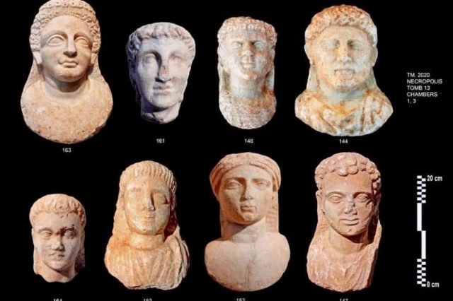 Eight incredibly well-preserved marble portrait statues were discovered, presumably made for the deceased. Credit: Egyptian Ministry of Tourism and Antiquities
