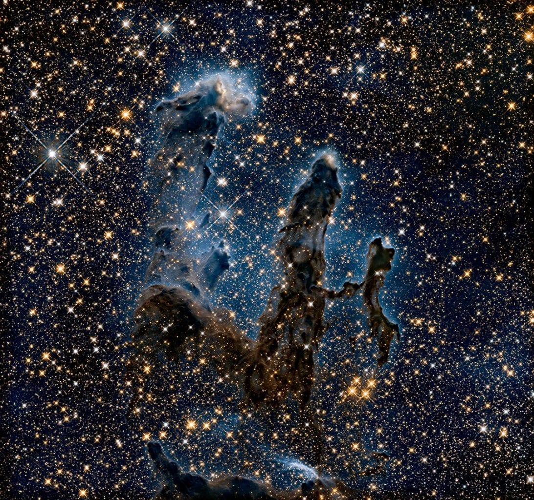 The famous Pillars of Creation captured in a near-infrared light image by Hubble. Credit: NASA, ESA, and the Hubble Heritage Team (STScI/AURA)