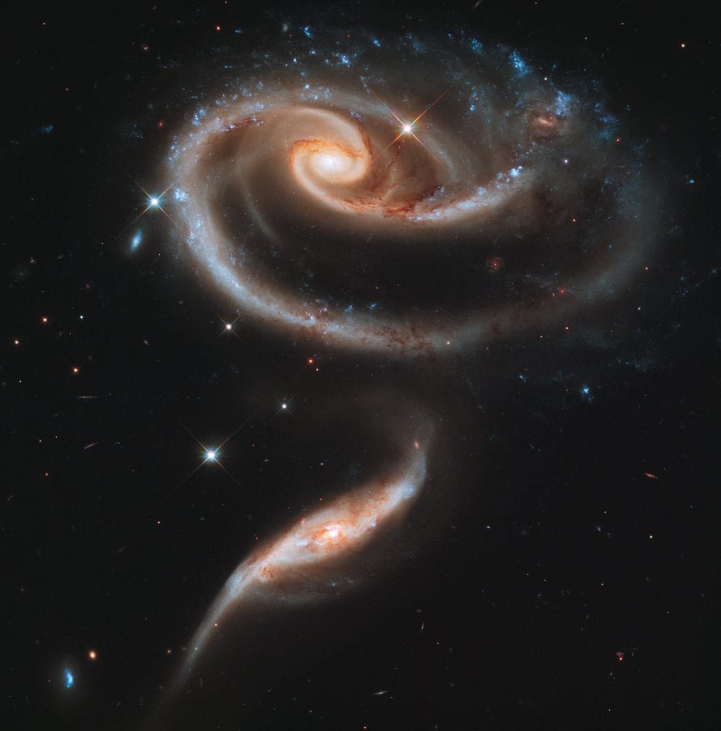 An incredible group of interacting galaxies called Arp 273. Credit: NASA, ESA, and the Hubble Heritage Team (STScI/AURA)