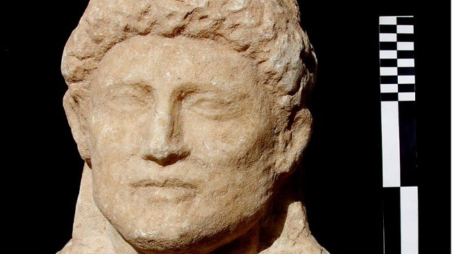 One of the well-preserved marble portrait statues discovered in situ. Credit: Egyptian Ministry of Tourism and Antiquities