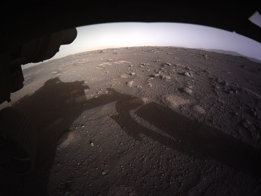 First color image of the Martian surface. Credit: NASA/JPL-Caltech