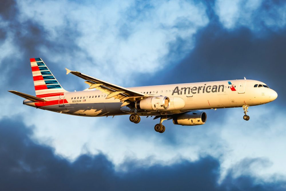 A UFO sighting was reported by the pilot of an American Airlines A321 plane during a flight over New Mexico. Credit: JFKJets.com
