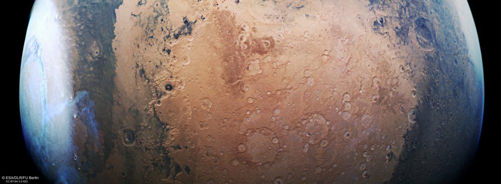 Three missions will reach Mars in February 2021. Credit: ESA/DLR/FU Berlin (G. Neukum), CC BY-SA 3.0 IGO