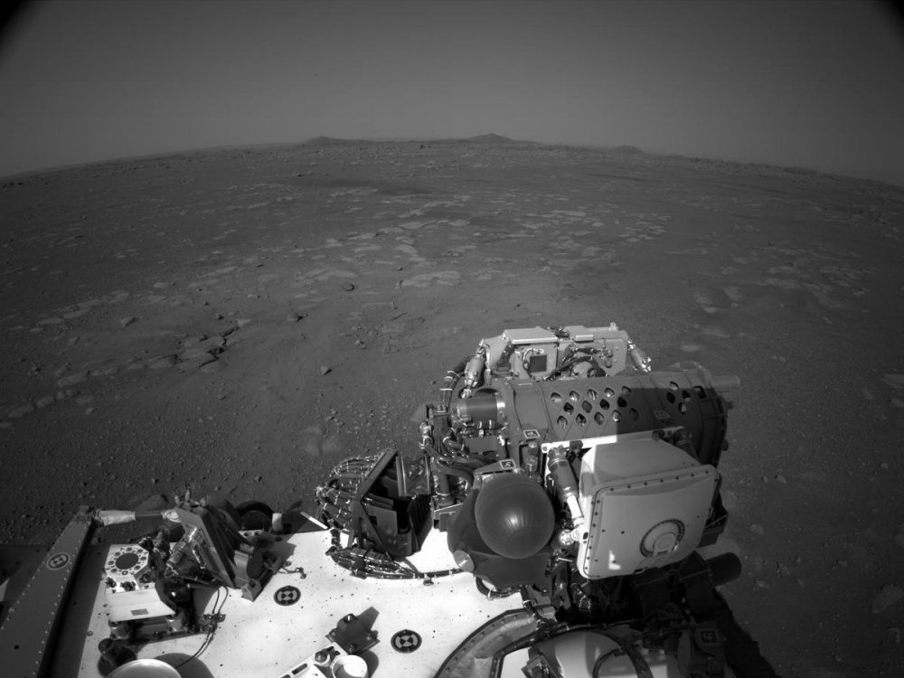Image from the surface of Mars taken by the Left Navigation Camera on the Perseverance Rover. Credit: NASA/JPL-Caltech