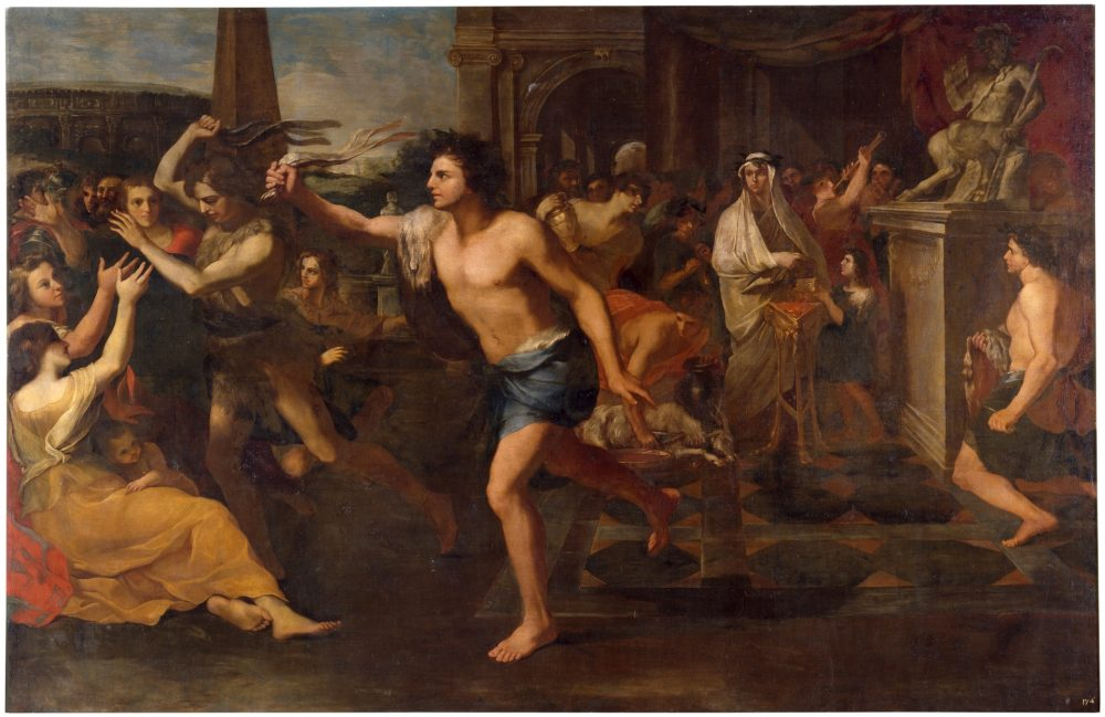 """""""Lupercalia"""", oil on canvas painting by Andrea Camassei from 1635. Lupercalia was an ancient pagan Roman festival, believed to be the predecessor of Valentine's Day. Credit: Museu Del Prado"""