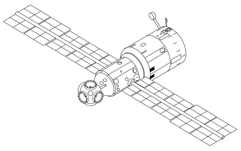 Graphics of the main module. Credit: NASA