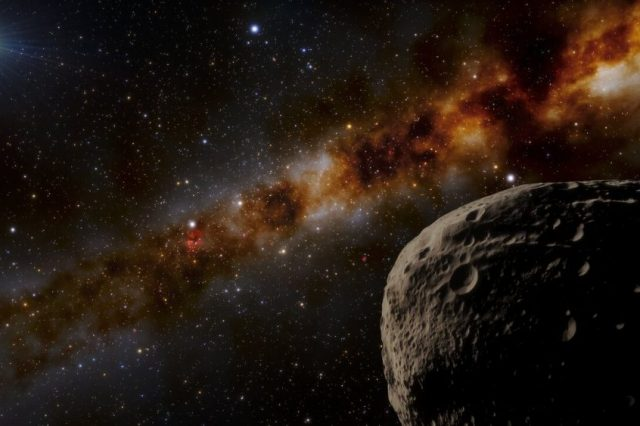 """Artist's take on how """"Farfarout"""" might look like at the furthest distance in the Solar System. Credit: NOIRLab/NSF/AURA/J. da Silva"""