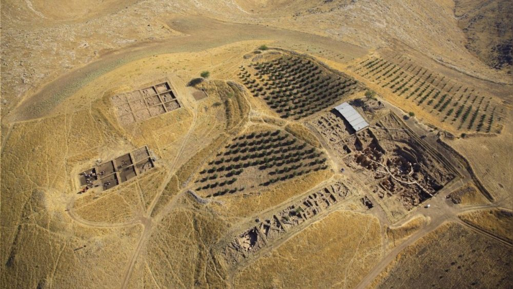 Aerial view of the entire area around the Gobekli Tepe site. Credit: German Archaeological Institute (DAI)