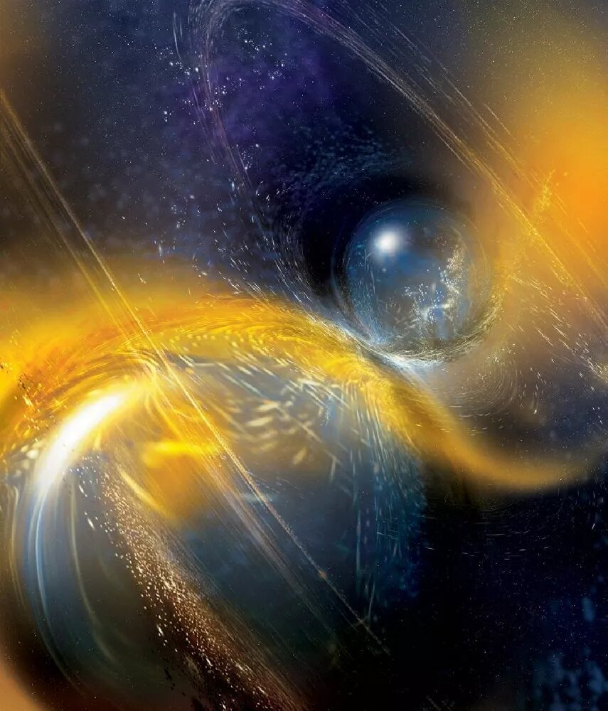 Artist's take on a neutron star in a binary system that could cause the alien signals we detect here on Earth. Credit: National Science Foundation/LIGO/Sonoma State University/A. Simonnet