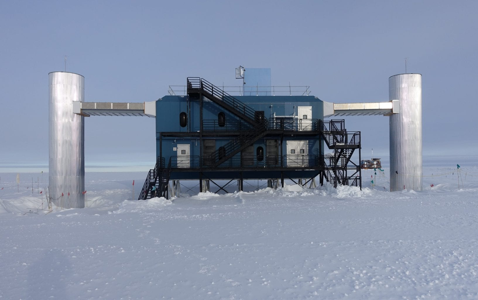 This is the IceCube Laboratory in Antarctica that collected the important data of the event caused by a cosmic particle. Credit: ICECUBE Collaboration
