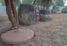 Besides the age, archaeologists have also established the likely quarry source of the stone used for the megalithic jars in Laos. Credit: Plain of Jars Archaeological Research Project
