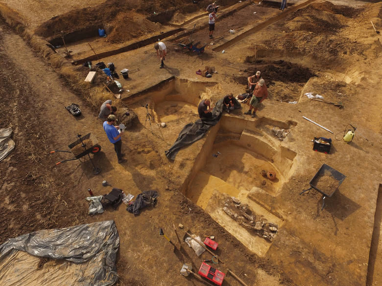 Archaeologists have been excavating the complex for about three years but there is much more work to be done. Credit: J. Bulas and M. Przybyla