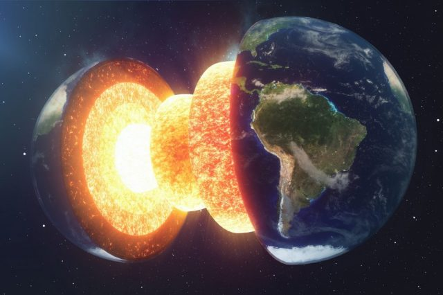 Scientists claim to have found a hidden structure within Earth's core. Credit: Shutterstock
