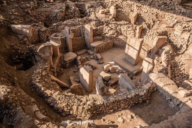 High-quality shot of the beautiful megalithic circle at the center of Gobekli Tepe, filled with pillars. Credit: Shutterstock