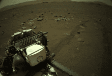 NASA's Perseverance rover spotted an incredible natural phenomenon on the surface of Mars - a dust devil, something that most previous missions had also seen but not from this close. Credit: NASA/JPL-Caltech