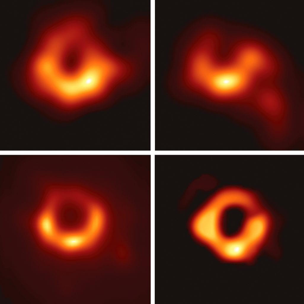 The black hole within the center of the Galaxy Messier 87 which became the first black hole to be photographed by the Event Horizon Telescope. Credit: EHT