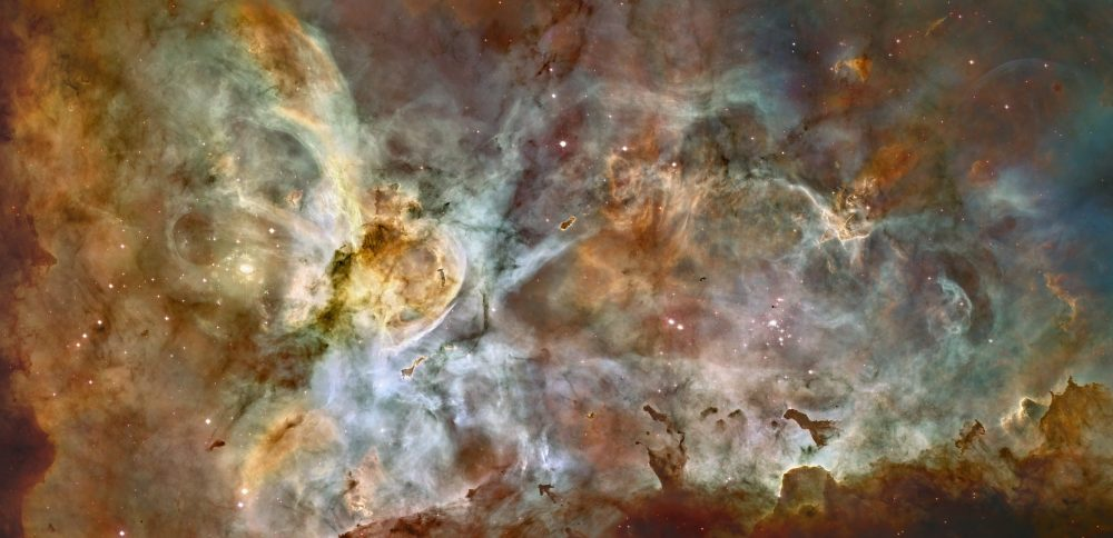 Interstellar navigation may soon become a reality but even if it does, when will interstellar space travel become possible? The image you see is one of the largest panoramas by Hubble. The celestial object is known as the Carina Nebula (Caldwell 92). Credit: NASA, ESA, N. Smith (University of California, Berkeley), and the Hubble Heritage Team (STScI/AURA); CTIO data: N. Smith (University of California, Berkeley) and NOAO/AURA/NSF