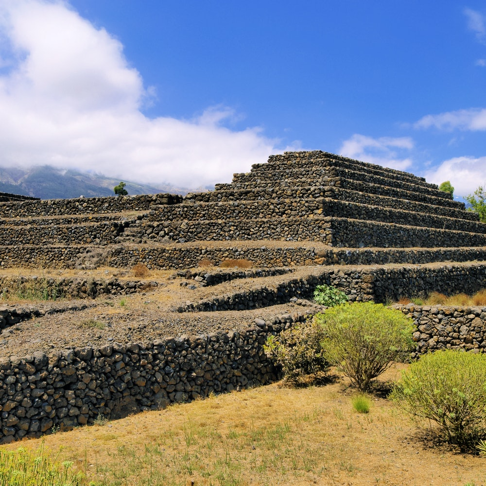 The pyramids of Tenerife are now part of a massive Ethnographic Park that includes gardens and museums. Credit: Tiqets.com