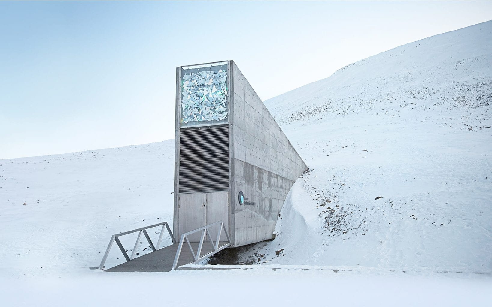The Global Seed Bank facility in the Norwegian archipelago of Svalbard. Credit: The Crop Trust