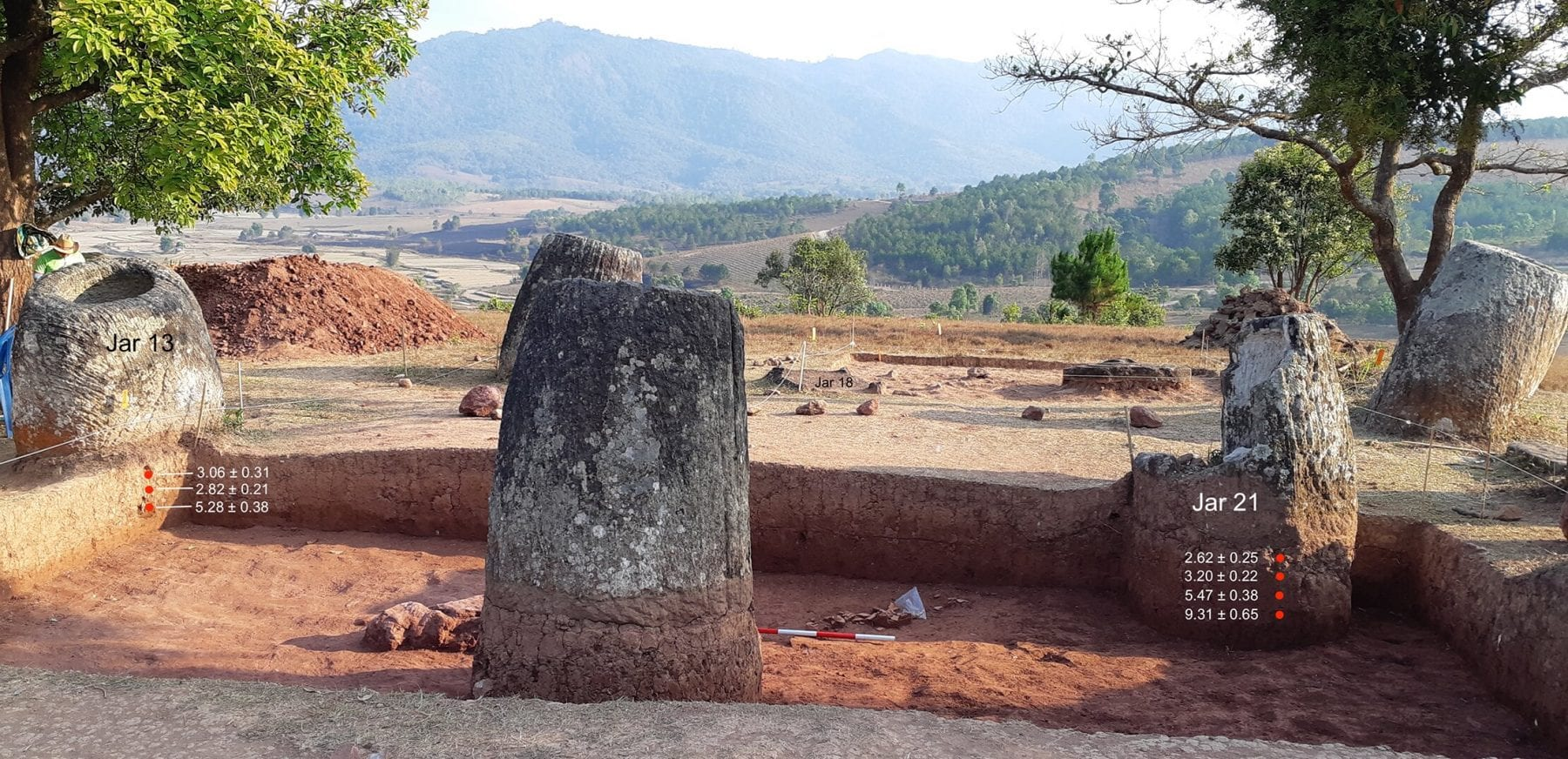 Location from which archaeologists took samples to study. Credit: Plain of Jars Archaeological Research Project