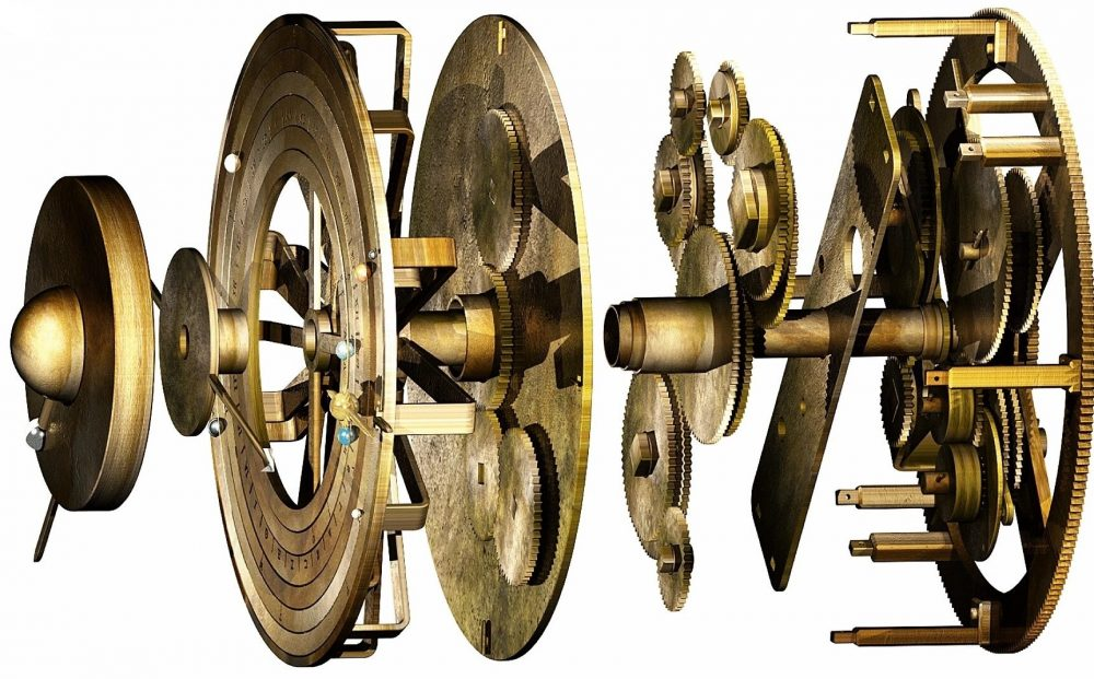 This digital model of the Antikythera mechanism reveals the different components of the gears used to determine the positions of celestial objects. Credit: Tony Freeth