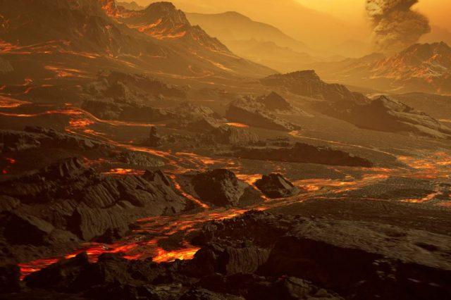 Artist's impression of the surface of super-Earth Gliese 486b. Credit: Trifonov et al./MPIA