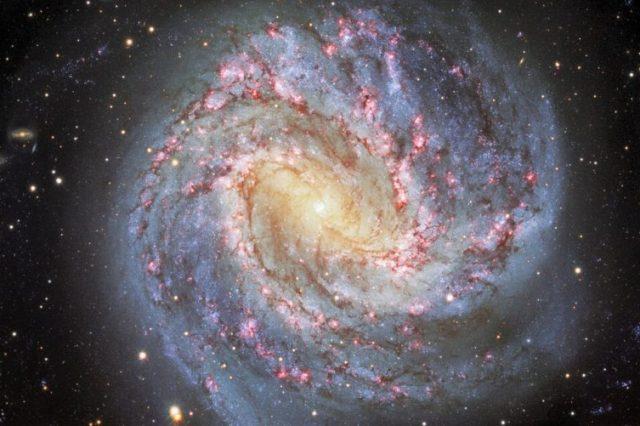 Sharpest image of the Messier 83 galaxy, created using six different filters for wavelenghts of light. Credit: CTIO / NOIRLab / DOE / NSF / AURA / M. Soraisam, University of Illinois / Travis Rector, University of Alaska Anchorage / Mahdi Zamani & Davide de Martin.