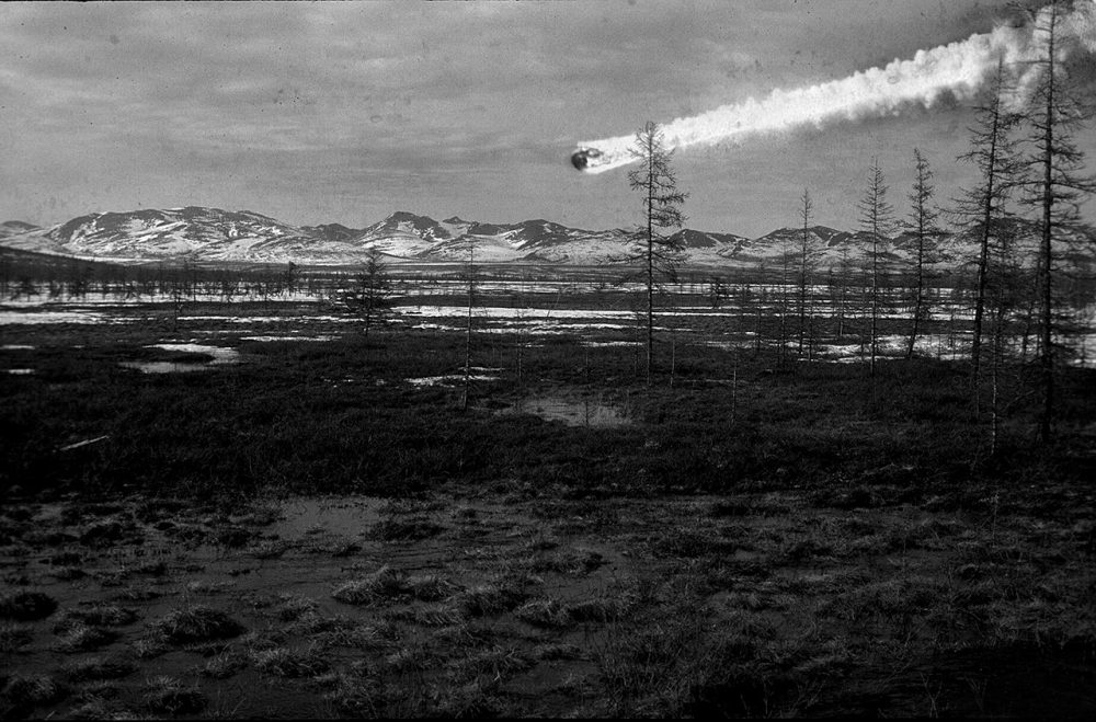 Here is an illustration in support of the hypothesis that the explosion was caused by a meteorite. Credit: Napalete.sk