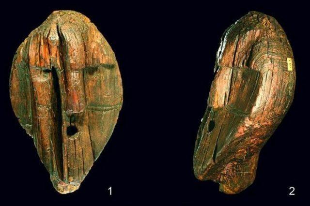 The Shigir Idol is the world's oldest wooden statue. Credit: Terberger et al., Quat. Int., 2021