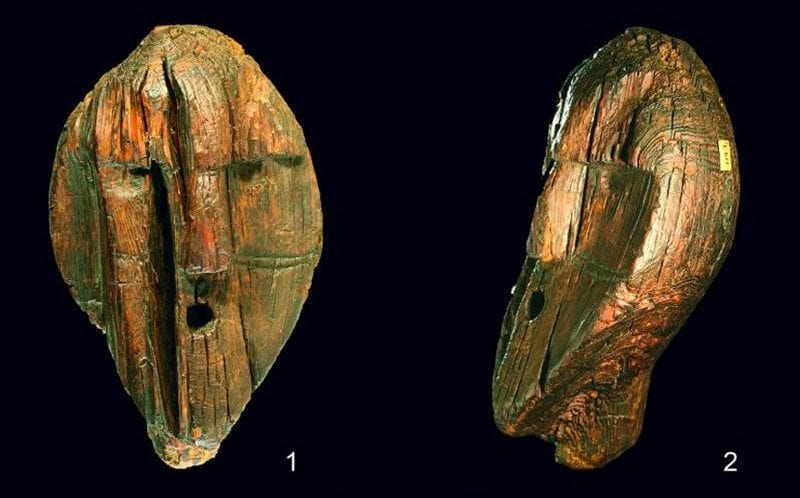 The Shigir Idol is the world's oldest wooden statue. Credit: Terberger et al., Quat. Int., 2021