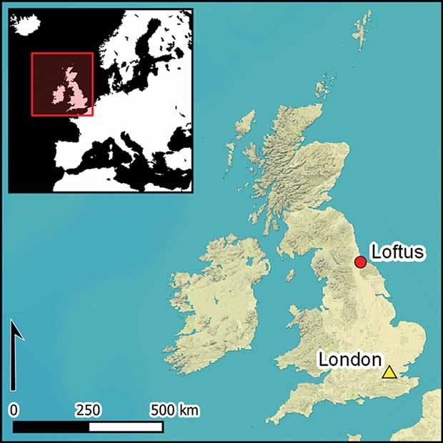 Location of the Neolithic British salt mine. Credit: Stephen J. Sherlock / Antiquity, 2021