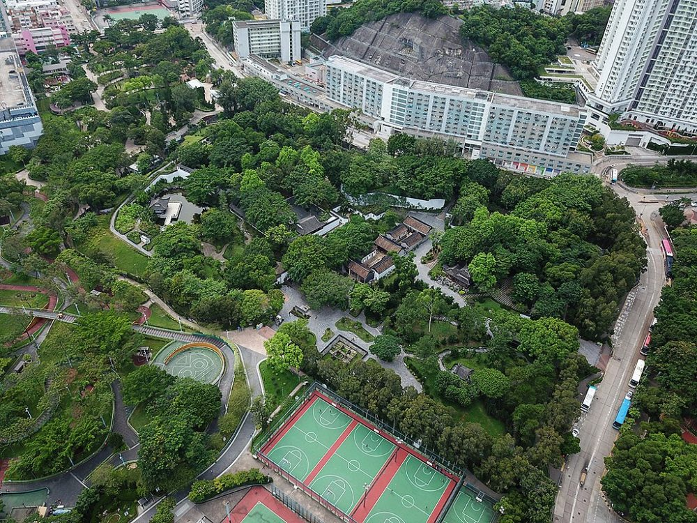 This is how the location looks today. They built a beautiful park in place of the Kowloon Walled City. Credit: Wikimedia Commons