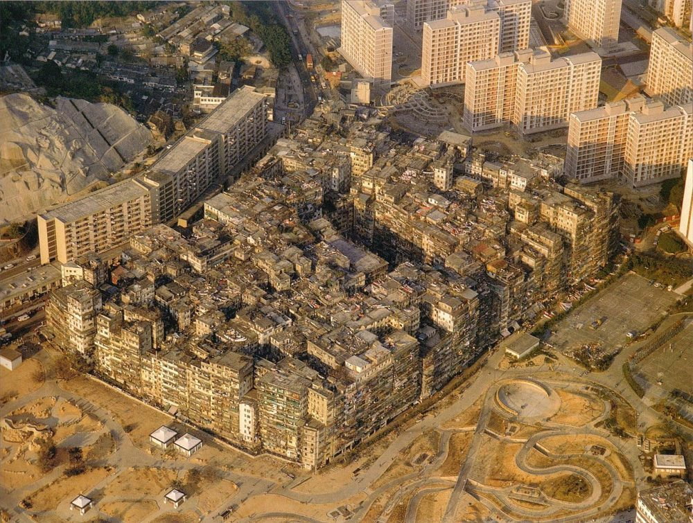 The Kowloon Walled City was the most densely populated place in the world and a city with literally no laws. Credit: Wikimedia Commons
