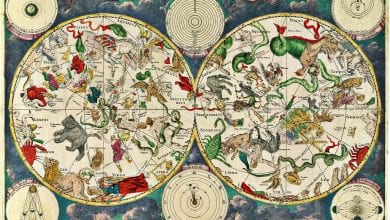 This is a celestial map from the 17th century made by Dutch cartographer Frederic de Wit. Could you imagine what ancient astronomers would have done if they had paper and colors 5000 years ago? Credit: Wikimedia Commons
