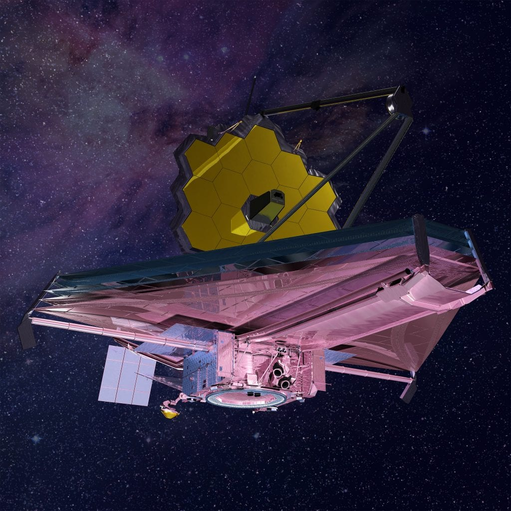 Artist's impression of the fantastic James Webb Space Telescope in space. Credit: Northrop Grumman / NASA's James Webb Space Telescope