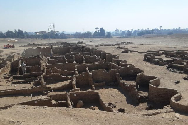 Large parts of the enormous ancient Egyptian city have already been unearthed. Credit: Dr. Zahi Hawass
