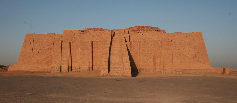 The Ziggurat of Ur which was partially restored by archaeologists. It is located at the Ali Air Base in Iraq. Architecture was one of the greatest achievements of the ancient Sumerian civilization. Credit: Wikimedia Commons