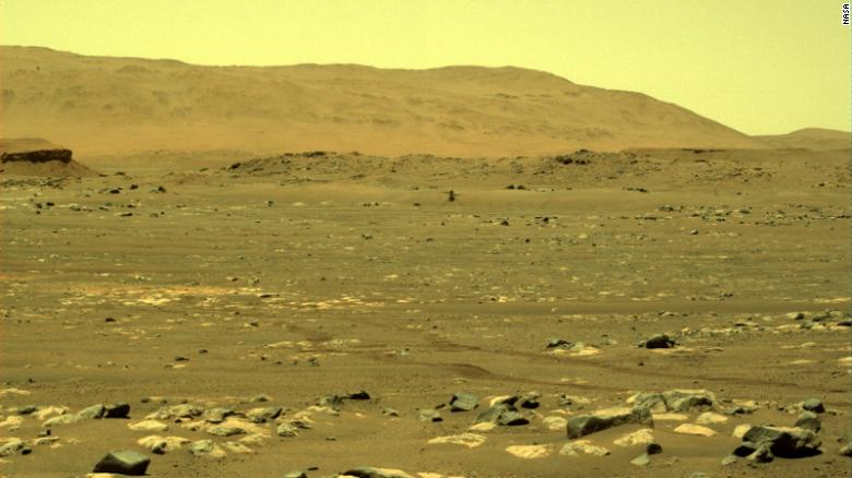 Here is one of the images of Ingenuity captured by the Perseverance rover from the moments of the first-ever flight on Mars. Credit: NASA / JPL-Caltech