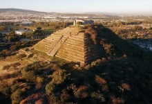 A screengrab showing an aerial view of the Pyramid of El Cerrito. Image Credit: Video Master Producciones / Youtube.