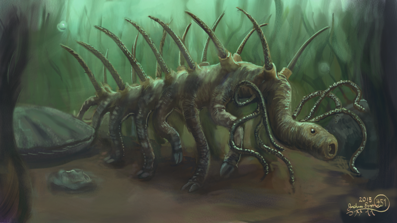 Hallucigenia reconstruction