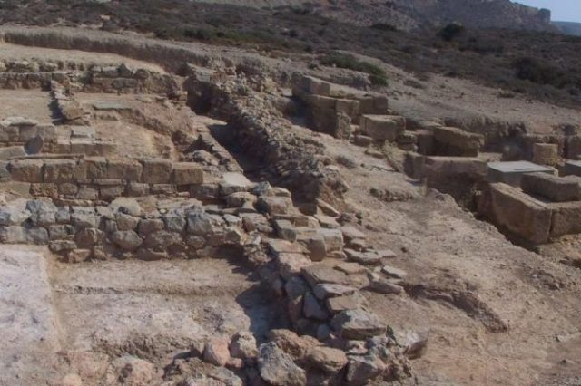 Part of the massive archaic complex of Itanos in Crete. Archaeologists continue to make significant discoveries and the excavations are likely to continue for decades. Credit: CReA-Patrimoine