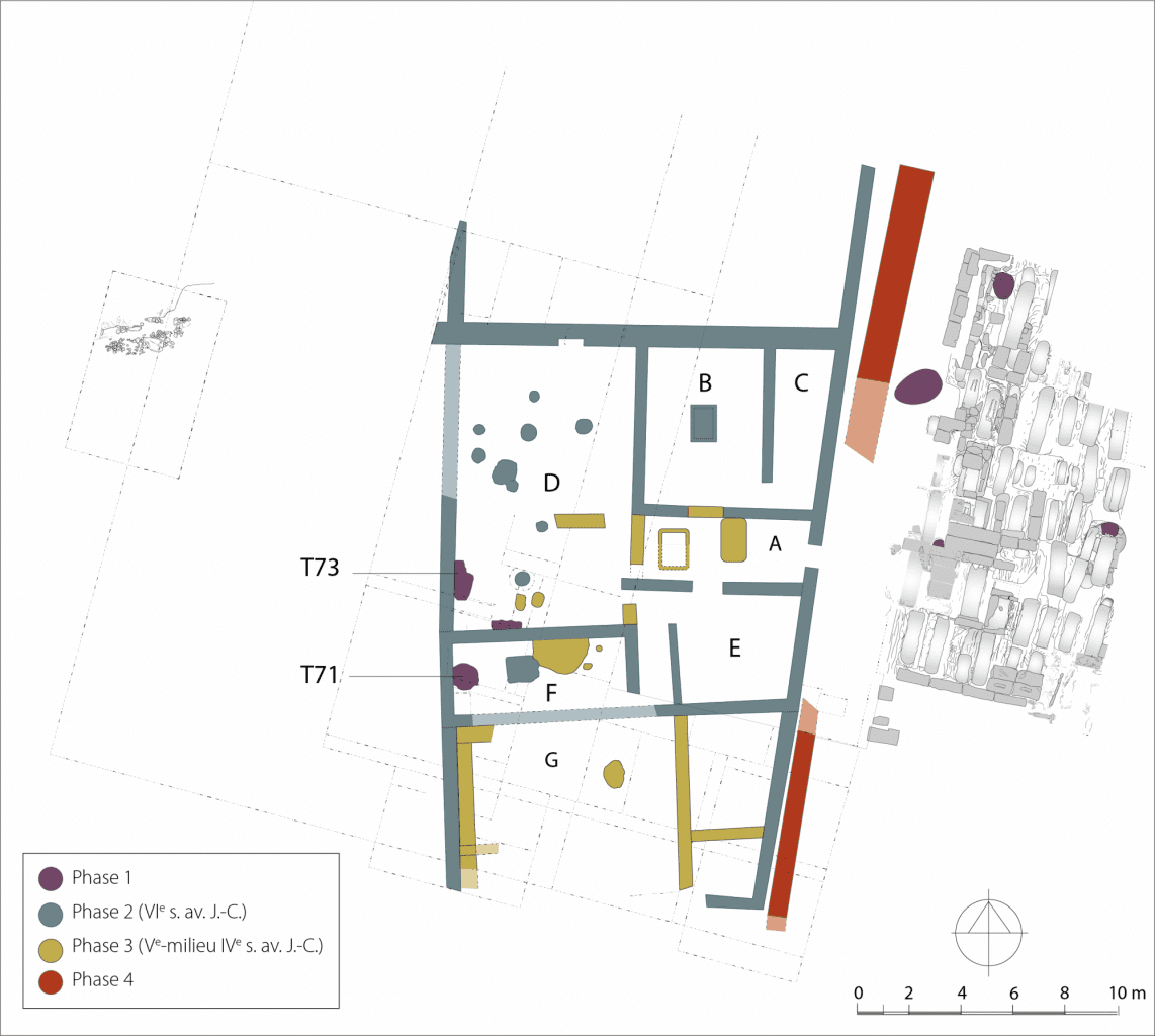 Plan of the Itanos complex in Crete illustrated in phases of occupation. Credit: CReA-Patrimoine