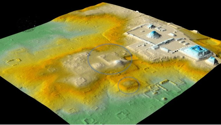 LiDAR image of groups 6D-III and 6D-XXI, in which traces of the close link between Tikal and Teotihuacán were found. (Free Press Photo: courtesy of Pacunam LiDAR Initiative / Thomas Garrison)