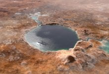 The Jezero Crater, which now serves as a landing site for the Perseverance rover, was once a giant lake. Scientists believe it is one of the best locations for the search of ancient microbial life on Mars which has once again been suggested by a new study. Credit: NASA / JPL-Caltech