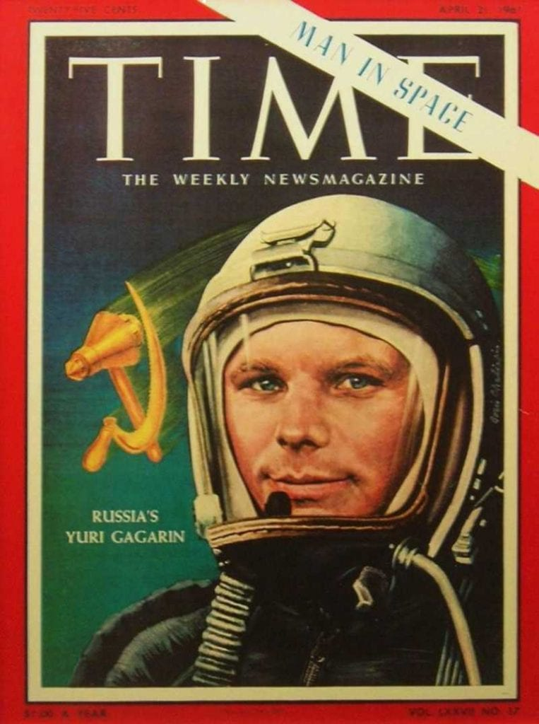 Time's front page after the first human space flight. Credit: Time Magazine